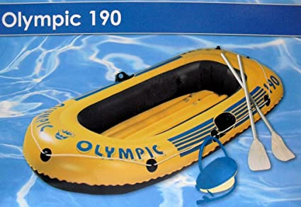 Wehnke 18027 Olympic 190 - Lancha hinchable con 2 remos e ...