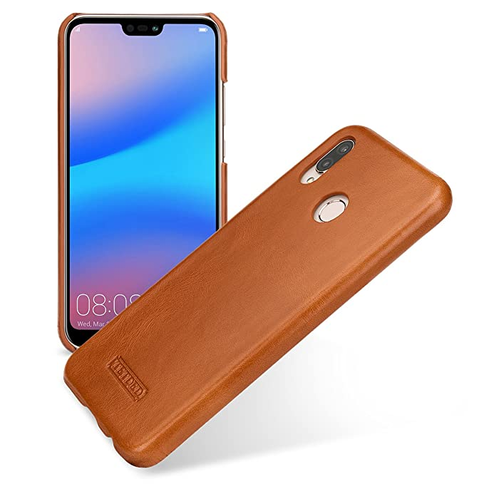 new concept 72773 ffc4d Amazon.com: TETDED Premium Leather Case for Huawei P20 lite Dual SIM ...