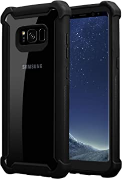 Cadorabo Funda para Samsung Galaxy S8 Plus en Negro Aliso –2-en-1 ...