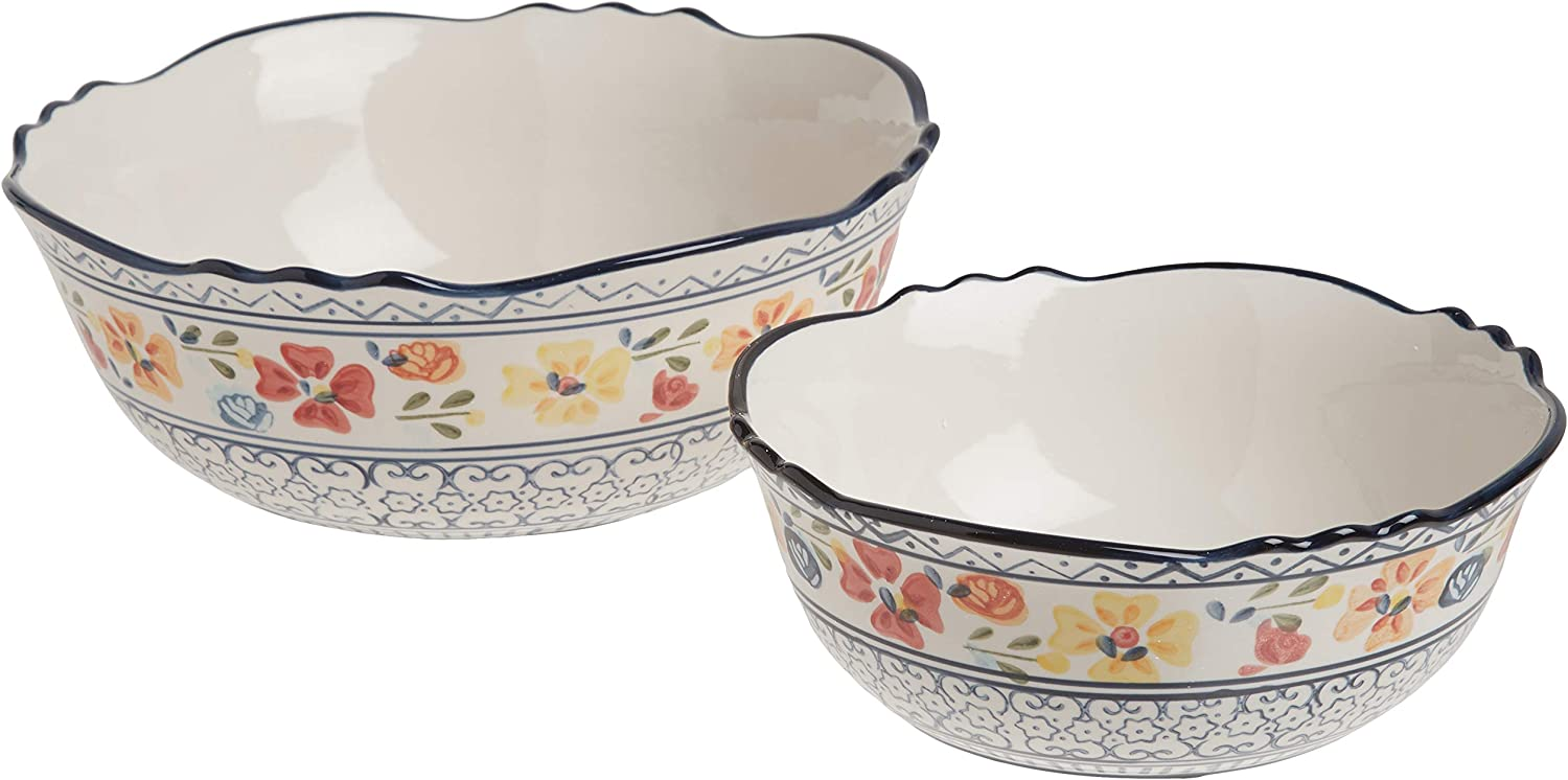 Philadelphia Inventory cleanup selling sale Mall Gibson Elite Hand-Painted Dinnerware Serving 2-Piece Bowls Set