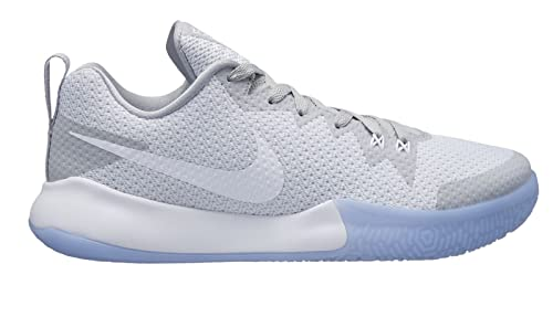 buy popular 72f46 c3bac Nike Mens Zoom Live II Basketball Shoes, Weiß White-Wolf Grey-Pure Pla