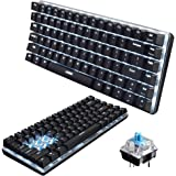 UrChoiceLtd® Ajazz Geek AK33 Backlit Usb Wired Gaming Mechanical Keyboard Blue Black Switches for Office, Typists and Play Games (Blue Switch, Black)
