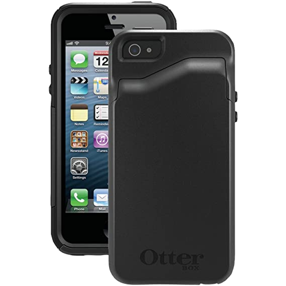 detailed look aca4a e4431 OtterBox COMMUTER WALLET SERIES Case for iPhone 5/5s/SE - Retail Packaging  - BLACK
