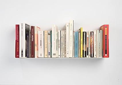Mensole Per Libri Design.Teebooks Mensola Design Per Libri Acciaio Bianco L 60 Cm P