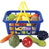 Casdon 633 Kids Fruit and Vegetable Basket Roleplay,Blue/Yellow