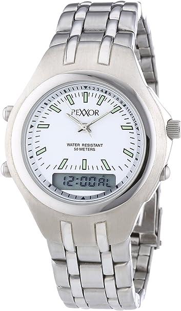 Rexxor 242-7904-18 - Reloj de Cuarzo para Hombres, Color Plata
