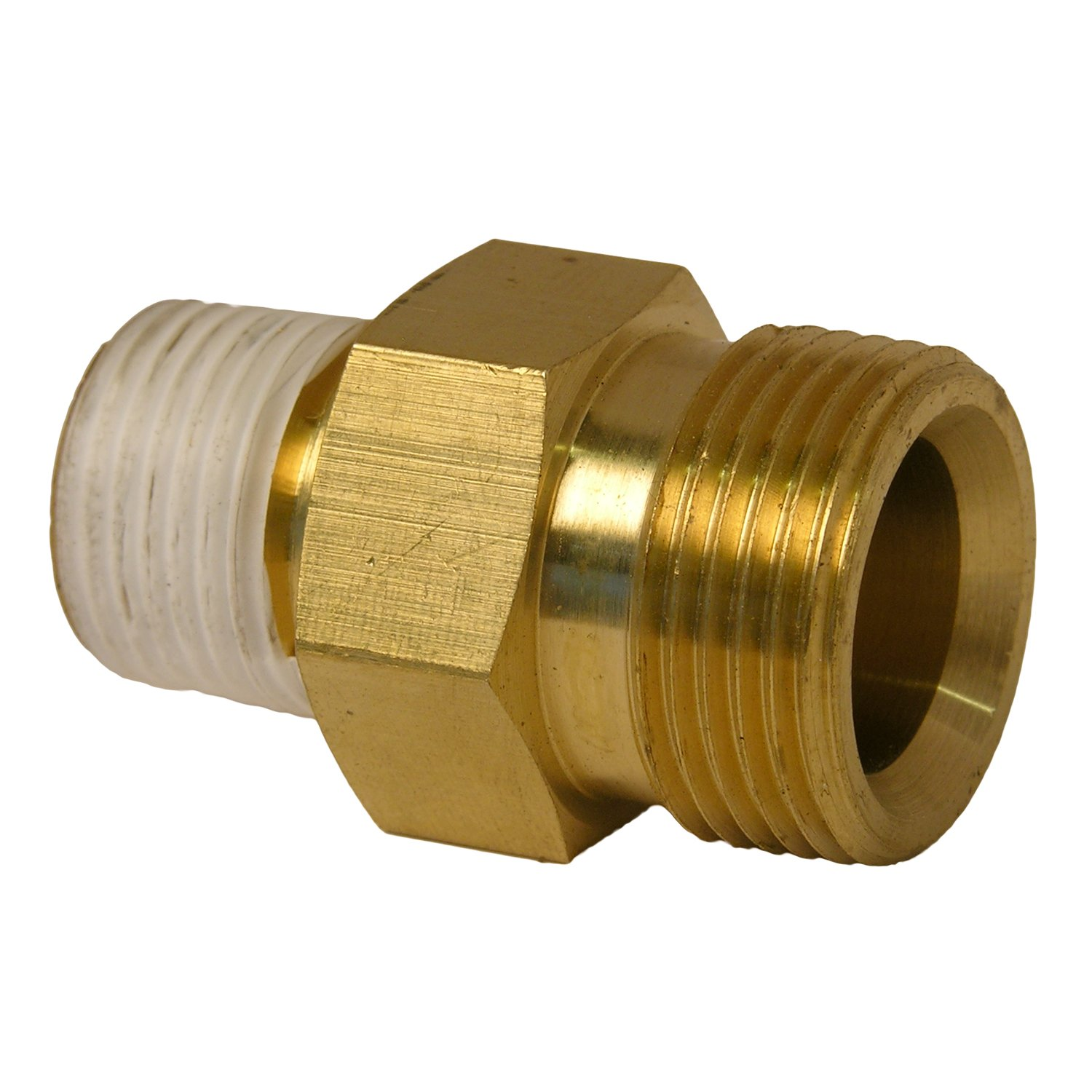 LASCO 60-1057 Pressure Washer High Pressure,Karcher 22MM Adapter Fitting X 3/8-Inch Brass Male Pipe Thread
