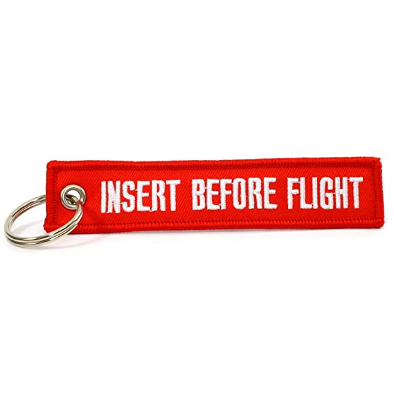 Rotary13B1 Insert Before Flight Keychain Red/White - 1 Piece