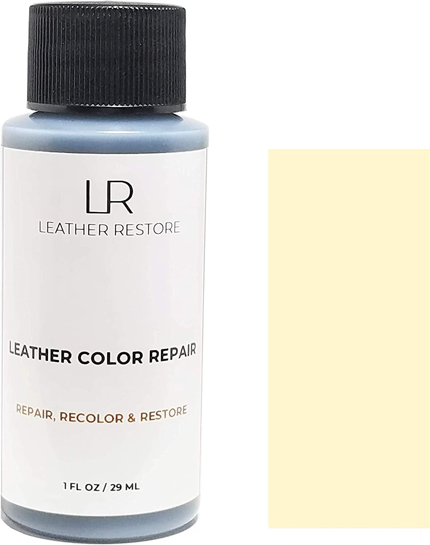 Leather Restore Leather Color Repair, Vanilla Cream 1 OZ - Repair, Recolor and Restore Couch, Furniture, Auto Interior, Car Seats, Vinyl and Shoes
