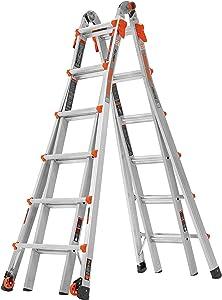 Little Giant Ladder Systems 15426-001 26 Ladder, en_US Feet with Wheels