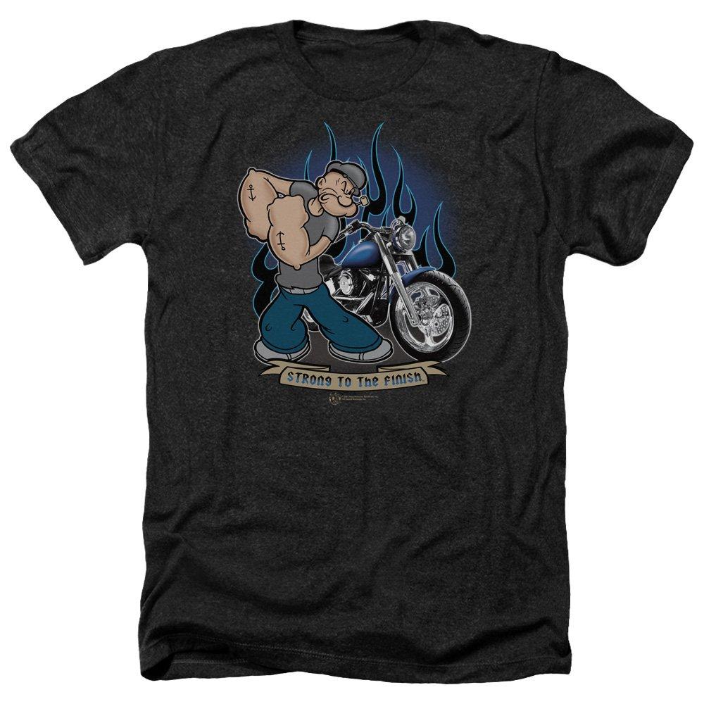 Popeye Biker Popeye S Heather Shirt Black Md