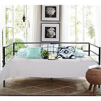 Aingoo Tagesbett mit Bettrahmen Metallbett für Schlafzimmer ...