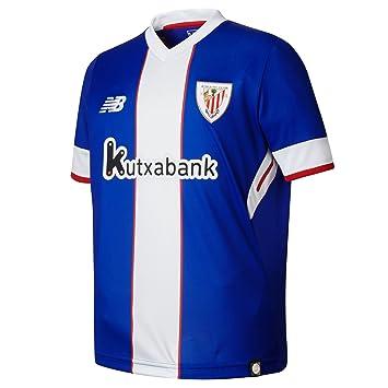 New Balance AC Bilbao MC Tercera Equipación 2017-2018 Niño, Camiseta, Azul-