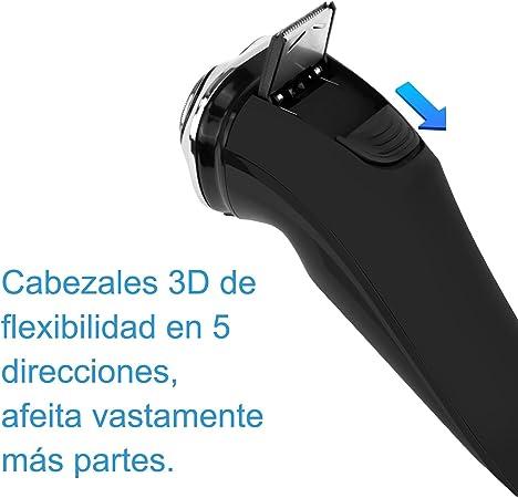 BROADCARE Afeitadora Impermeable Eléctrica 3 Hojas Rotativas ...