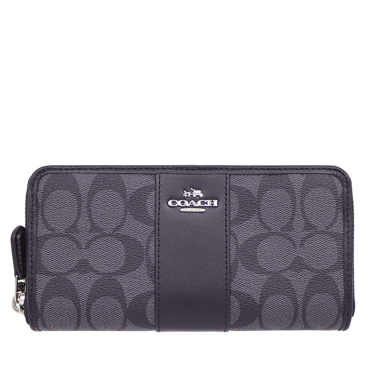 [コーチ] COACH 財布 (長財布) F54630 シグネチャー 長財布 レディース [アウトレット品] [並行輸入品] B077BQ3R12 ブラックスモーク/ブラック ブラックスモーク/ブラック