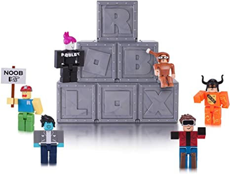 Roblox Toy Codes Prizes Amazon Com Roblox Action Collection Series 1 Mystery Figure 6 Pack Includes 6 Exclusive Virtual Items Toys Games
