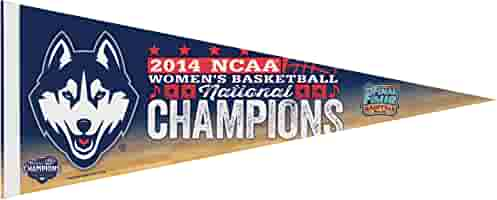 White WinCraft NCAA Connecticut Huskies Womens Final Four Champions Premium Quality Pennant Large//12 x 30-Inch