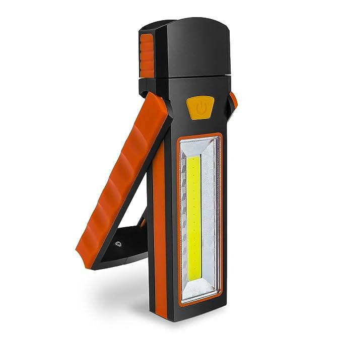 52 opinioni per Debonice Luce LED, COB Luce di Lavoro Portatile Super Luminoso Torcia con Base