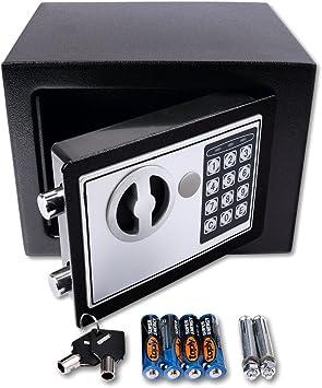 Schramm® Caja Fuerte electrónica 23x17x17cm Caja Fuerte de Muebles Caja Fuerte de Pared con Cerradura de combinación Digital: Amazon.es: Bricolaje y herramientas