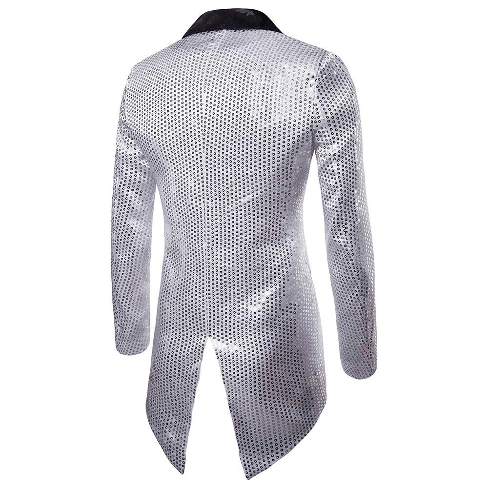 Pingtr Mens Glittery Tuxedo Sequin Blazer Jacket Fancy Stage Performance Outwear Tuxedo Suit Jackets Wedding Prom Checkered Blazer