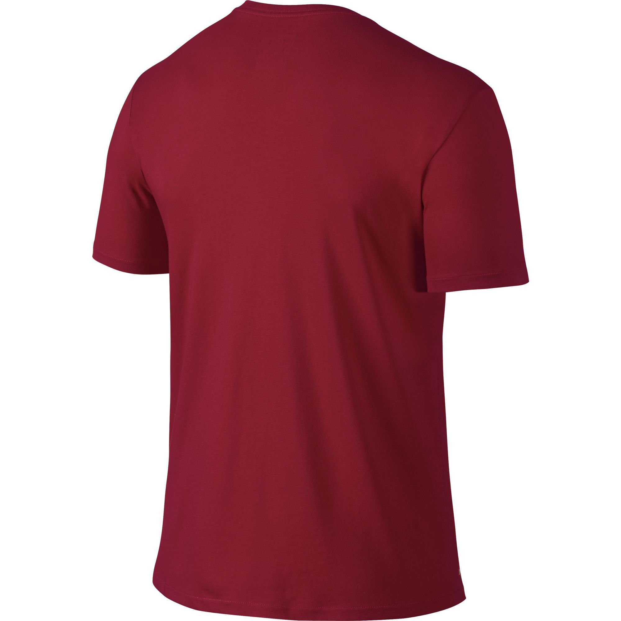 NIKE Men's Dri-FIT Cotton 2.0 Tee, Gym Red/Gym Red/White, Small by Nike (Image #2)