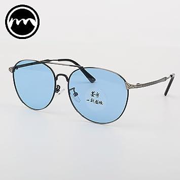 VVIIYJ Color transparente Espejo de rana Gafas de sol ...