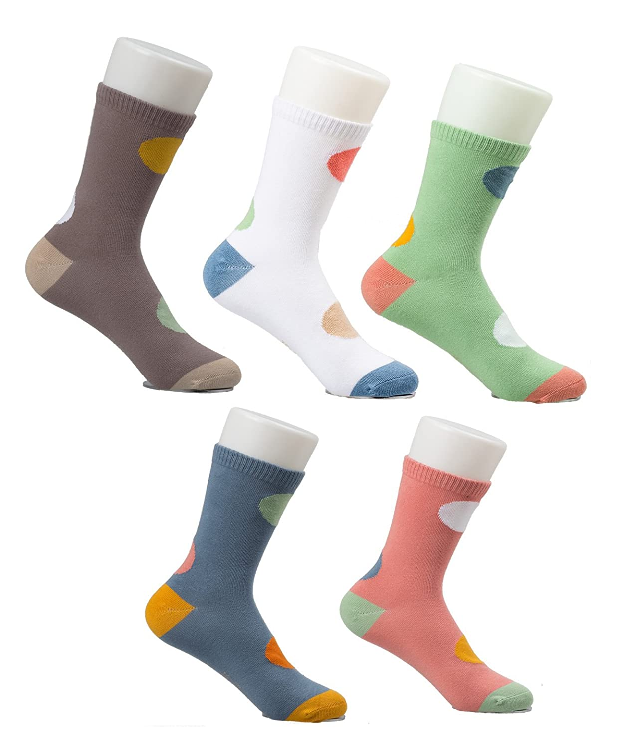 Amazon.com: Maiwa Cotton No Seams Crew Socks for Kids Boys Girls 5 Pack: Clothing