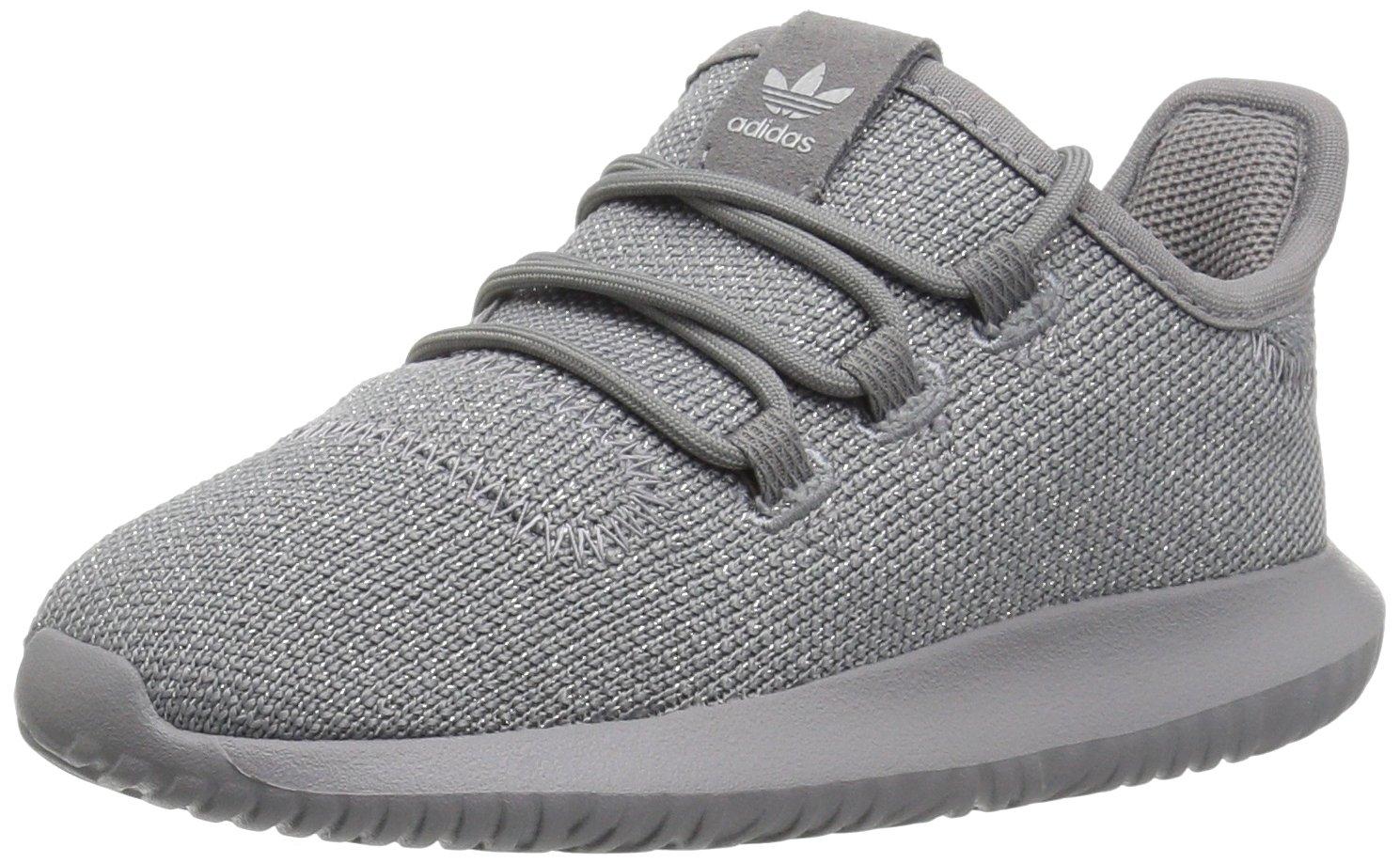 adidas Originals Boys' Tubular Shadow I Sneaker, Grey Three/Grey Three/Metallic Silver, 5 M US Toddler
