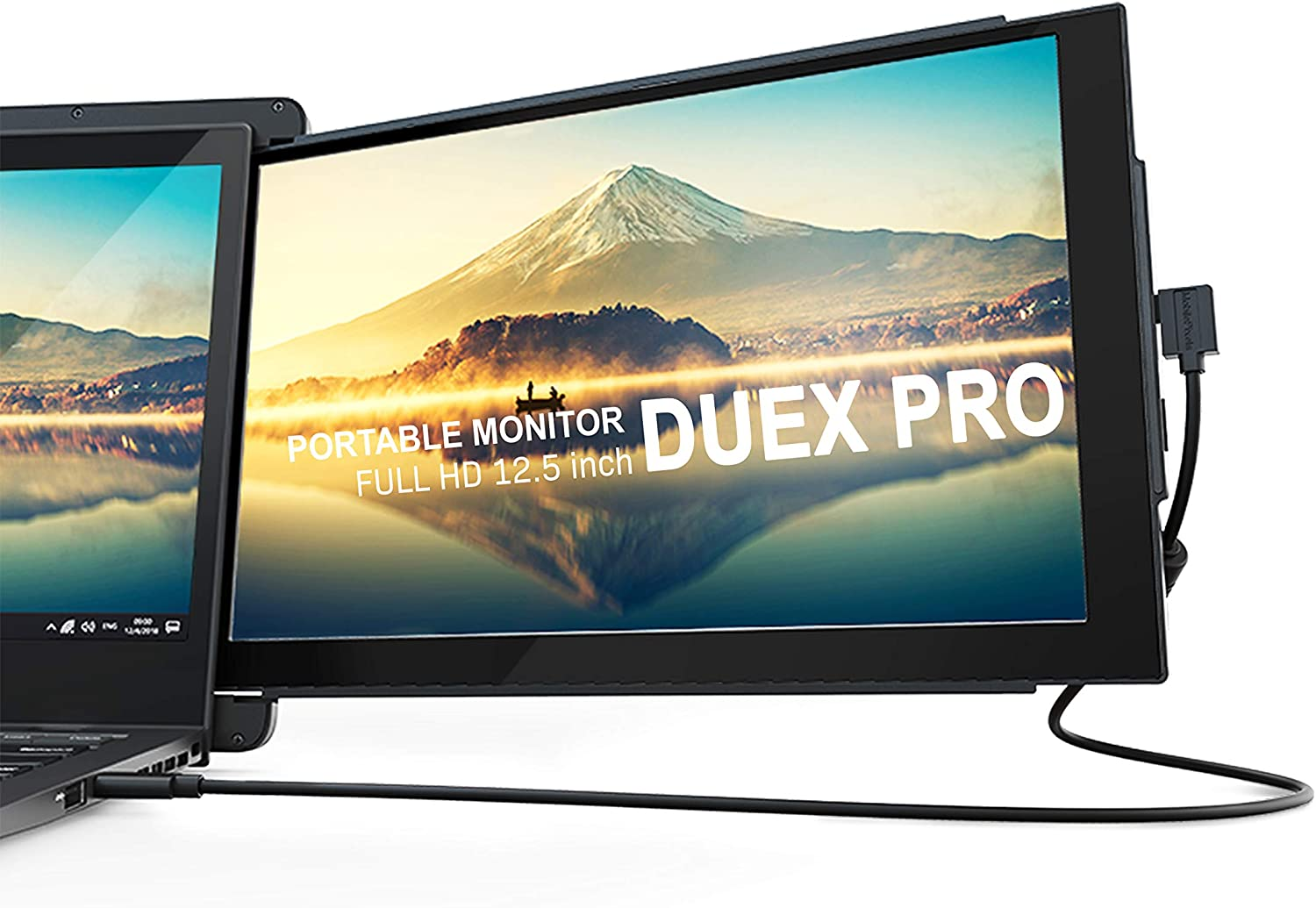 "Mobile Pixels Duex Pro - Upgraded 2.0 Portable Monitor for Laptops - 12.5"" Full HD USB Screen Plug and Play"