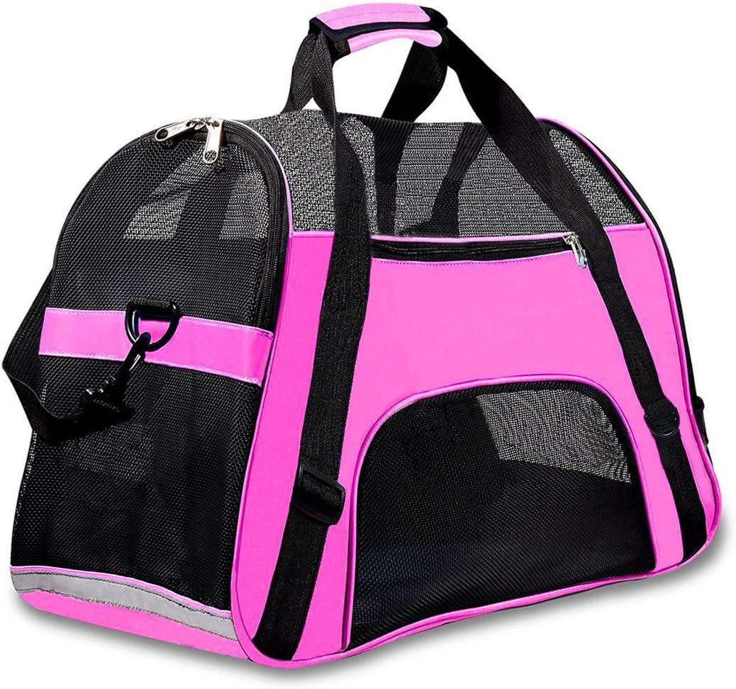 Transportín de viaje para mascotas, de Display4top, cómodo, ampliable, plegable, para perros y gatos, 46cm x 25cm x 28cm