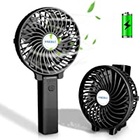 NEEGO Ventilador de Mano Plegable Mini Ventilador eléctrico Escritorio Ventilador portátil USB 3 Ajuste de Velocidad Viento Ventiladores manuales Operado a batería para Exteriores, Viajes, Camping