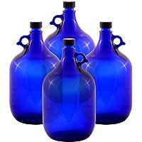 4 x 5 Litros glasballonflasche EN AZUL Galón