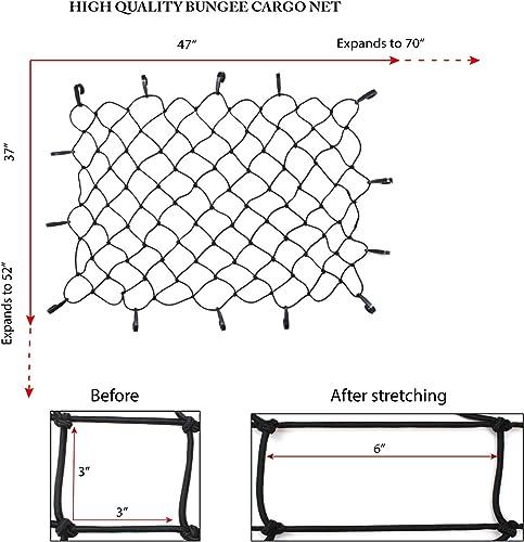 Outdoor Shock Heavy Duty Elastic Tie-Down Net
