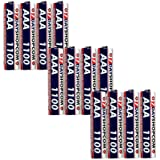 7dayshop AAA HR03 NiMH High Performance Rechargeable Batteries 1100mAh - Extra Value 12 Pack