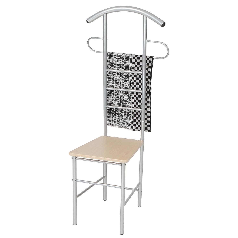 Miadomodo Appendiabiti servomuto indossatore porta abiti camera sedia set da 1 Amazon Casa e cucina