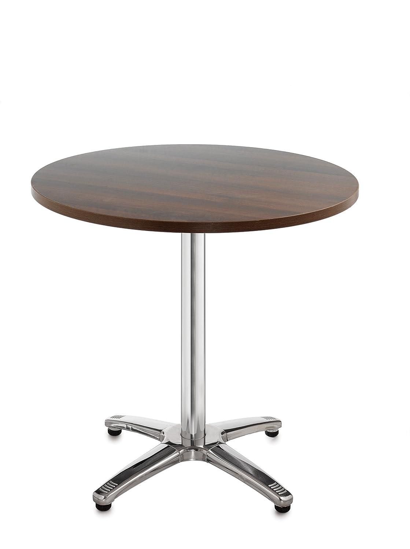 DAMS Roma Aluminium Round Table, Wood, Walnut, 80 cm UB1380RB