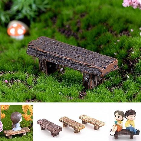 Centraliain 3Pcs Banco En Miniatura Bancos Retro Miniatura Jardín De Hadas Bonsai Adornos Casas De Muñecas Decoración: Amazon.es: Deportes y aire libre