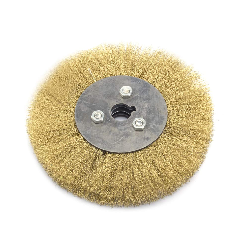 Cepillo circular de alambre de cobre puro de 15,2 cm para limpiar superficies de metal