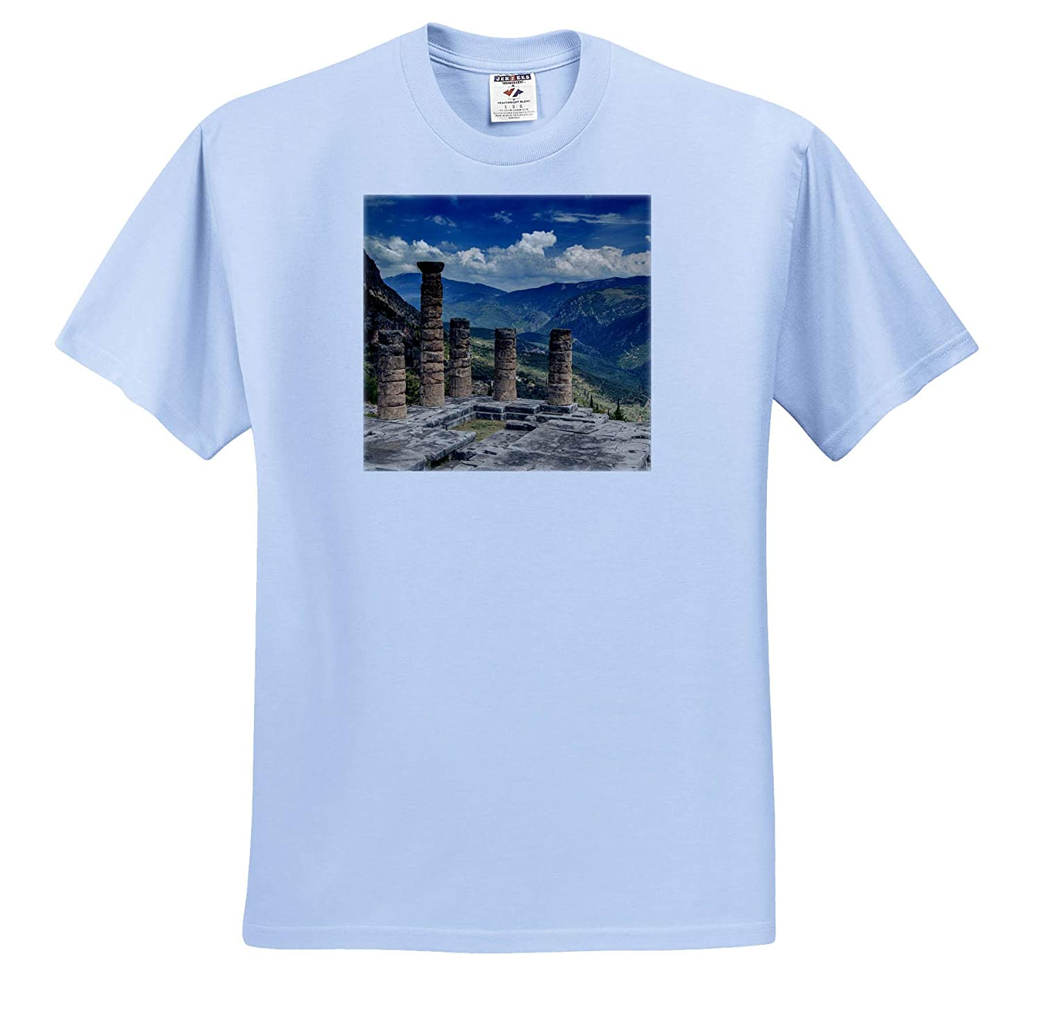 3dRose Danita Delimont Delphi Greece Temple of Apollo Adult T-Shirt XL Greece ts/_313610