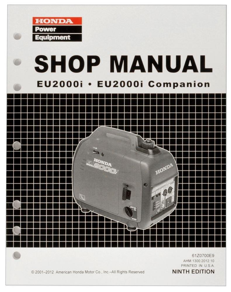 Honda Eu2000 Eu2000i Generator Service Repair Shop Gx340 Starter Wiring Diagram Manual Lawn And Garden Tool Replacement Parts Outdoor