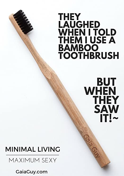 Bambú carbón de bambú cepillo de dientes conjunto de 12 ...