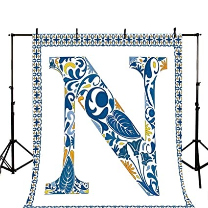 Amazon com : Letter N Stylish Backdrop, Floral Design in Vintage