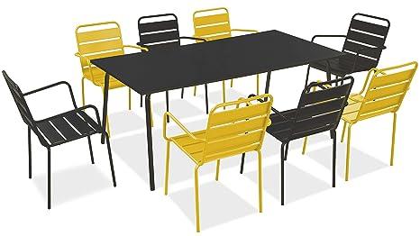 Oviala Palavas - Juego de Mesa y 8 sillones de jardín de ...