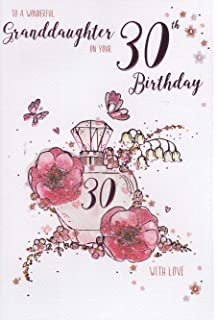 ICG Granddaughter 30th Birthday Card