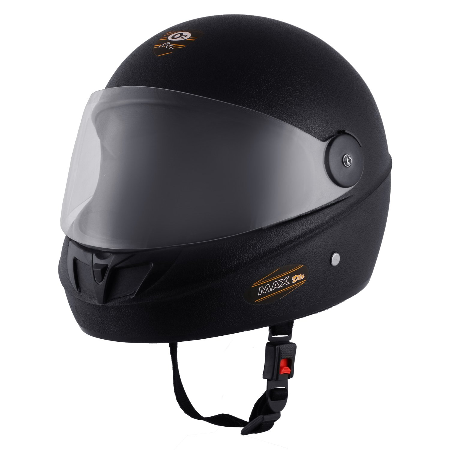 8eea67e0 O2 Max DLX Full Face Helmet With Scratch Resistant Visor (Matte Black,M)