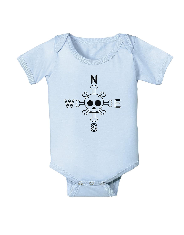 Compass Rose Skull and Crossbones Baby Romper Bodysuit