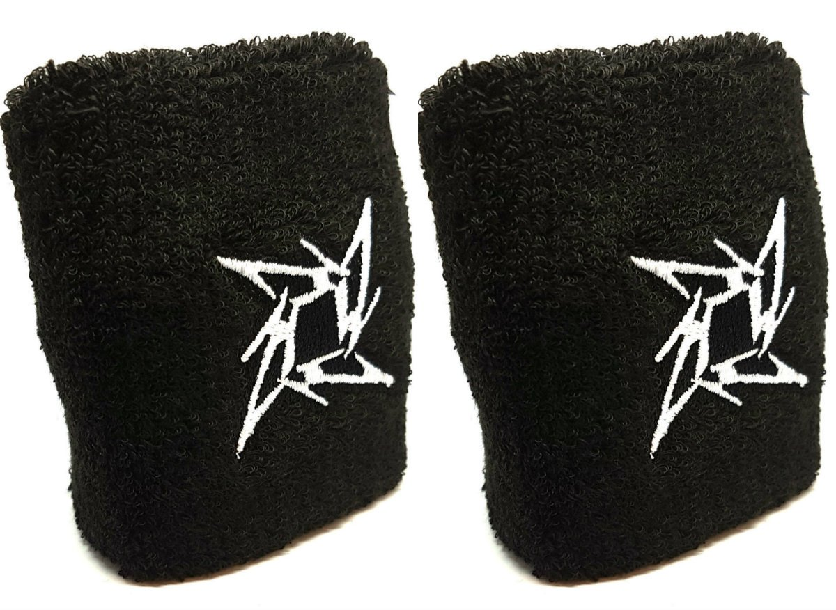 Vonchic Sport Sweatband Metallica Ninja Star Blade Logo Sports Sweatbands Wristbands 1 Pair Ningbo General Union
