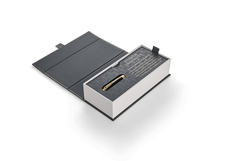 PARKER Ingenuity Penna con tecnologia di 5a generazione rosso-nero deluxe punta sottile con ricarica di inchiostro nero 1972069