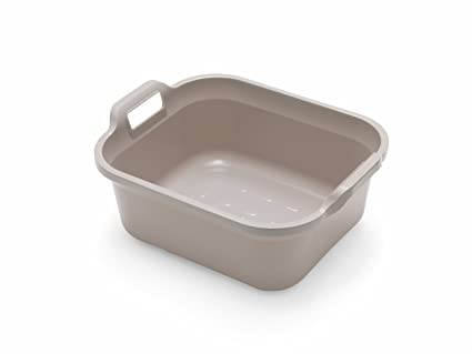 584dd3e1d514 Addis Large Rectangular 9.5 Litre Washing Up Bowl with Handles, Mushroom,  39 x 32 x 14 cm: Amazon.co.uk: Kitchen & Home
