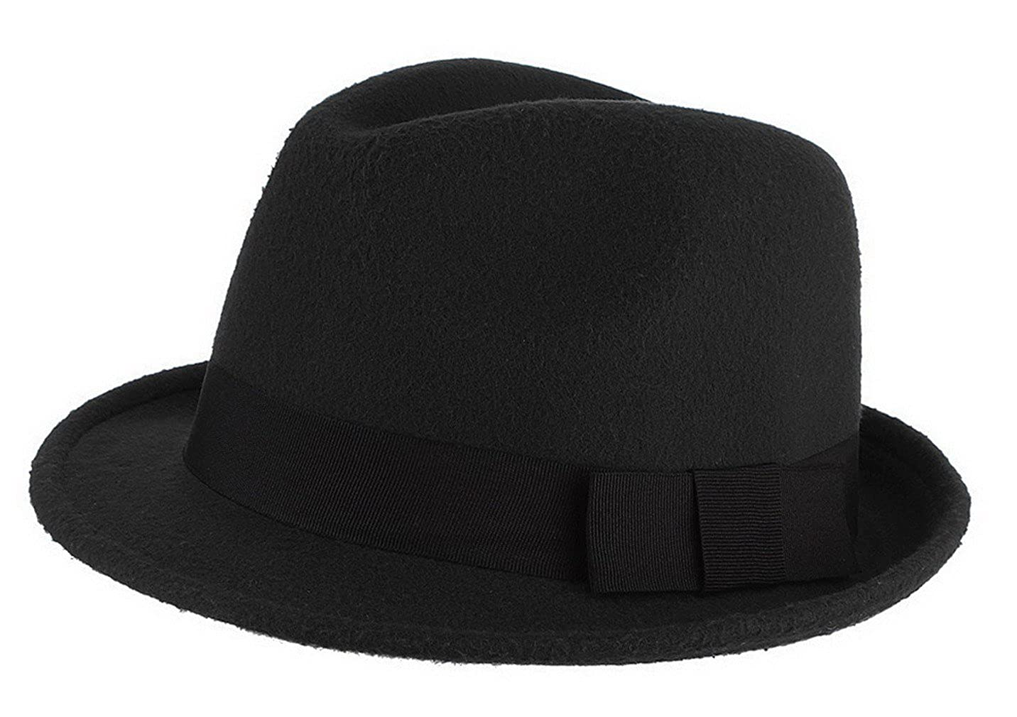 La Vogue-Cappello in Feltro Uomo Jazz Berretto Caldo Fedora Trilby Semplice Topper Invernale